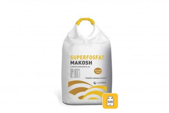 SUPERFOSFAT MAKOSH з мікроелементами (B, Zn) P(19,5%), Ca(25%), S(30%), B(0,2%), Zn(0,2%)