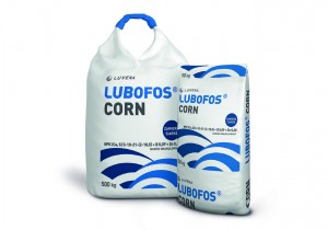 LUBOFOS під кукурудзу N(5%), P(10%), K(21%), Ca(2%), Na(2%), S(18,5%), B(0,09%), Zn(0,2%)