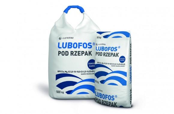 LUBOFOS під ріпак N(3,5%),  P(10%), K(18,5%), Ca(2%), Mg(2,5%), S(14,5%), B(0,2%)