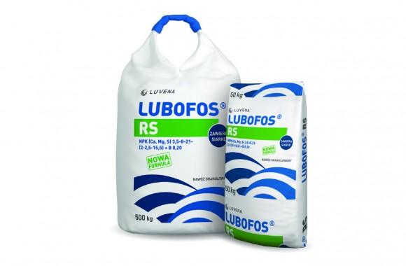 LUBOFOS RS N(3,5%), P(8%), K(21%), Ca(2%), Mg(2,5%), S(15,5%), B(0,2%)