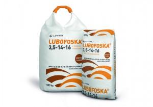 LUBOFOSKA 3,5-14-16 з міддю і марганцем N(3,5%), P(14%), K(16%), Ca(10%), S(19%), Cu(0,1%), Mn(0,2%)