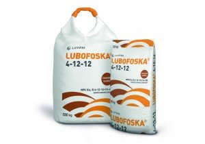 LUBOFOSKA 4-12-12 N(4%), P(12%), K(12%), Ca(14%), S(29%)